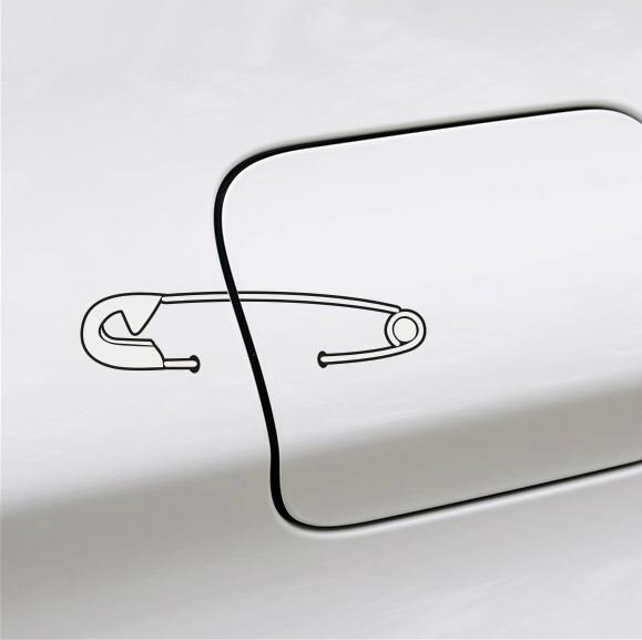 Cute And Simple Pin Design Creative Car Sticke