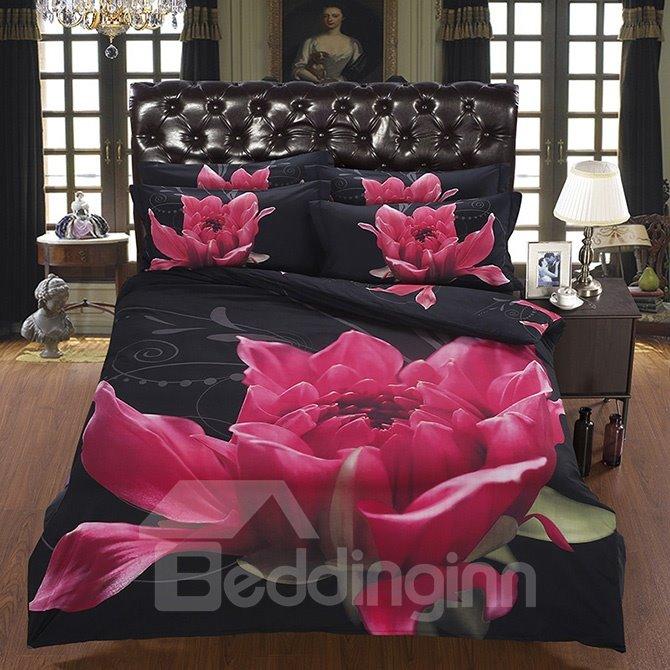 The Dissilient Flower in the Dark Design 5-Piece Comforter Sets