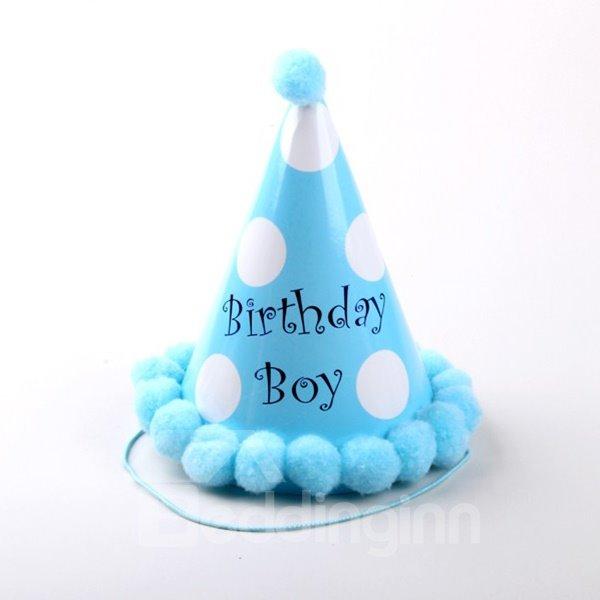 Lovely Polka Dot Pattern Baby Birthday Hat Decoration