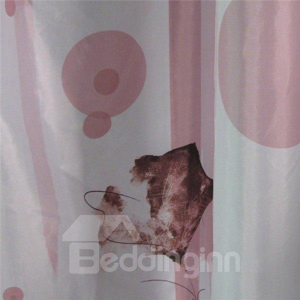 Romantic Fringed Iris Print Pink Shower Curtain