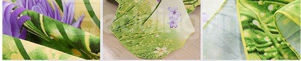 Refreshing Flappy Dandelion Printing Cotton Printed Sheet