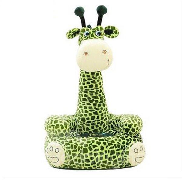 Super Cute Green Giraffe Cartoon Pattern Children Lazy Sofa Tatami Seat