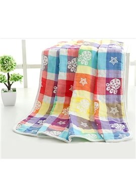 Lovely Stars and Footprints Pattern Kids Bath Towel