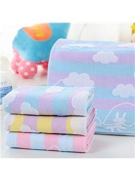 Cloud Pattern Cotton Water Absorption Baby Bath Towel