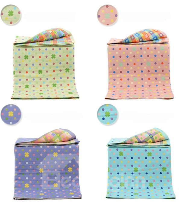 100% Cotton Polka Dot Pattern Water Absorption Baby Bath Towel