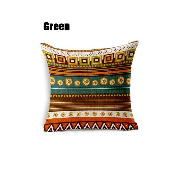 Exotic Bohemian Style Geometric Figure Throw Pillow Case