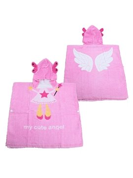 Lovely Pink Angel Baby and Kids Bath Towel