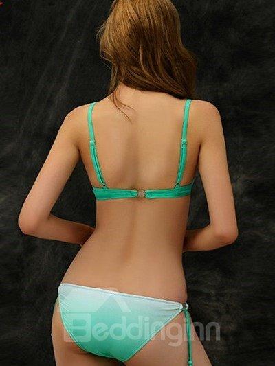 Trendy Gradient Diamond Dimensional Fold Sexy Bikini