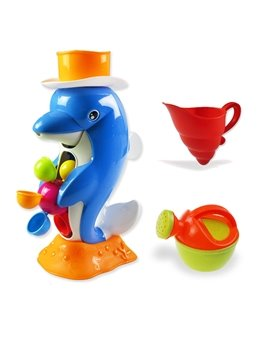 Cool Blue Little Dolphin Baby Bath Toys