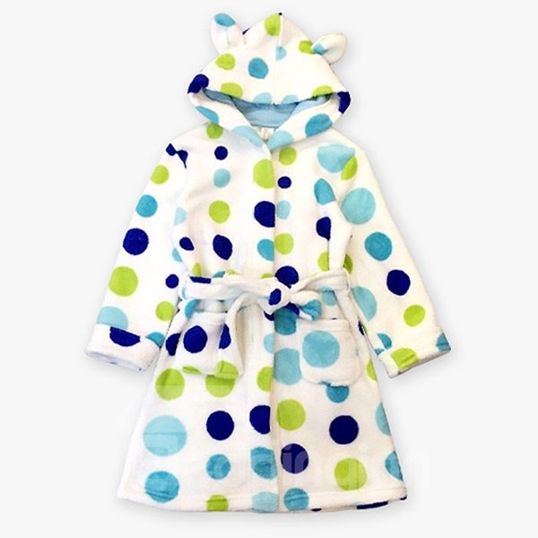 Warm and Charming Polka Dot Pattern Kids Robe