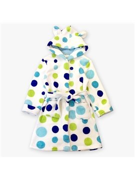 Warm and Charming Polka Dot Pattern Kids Robe