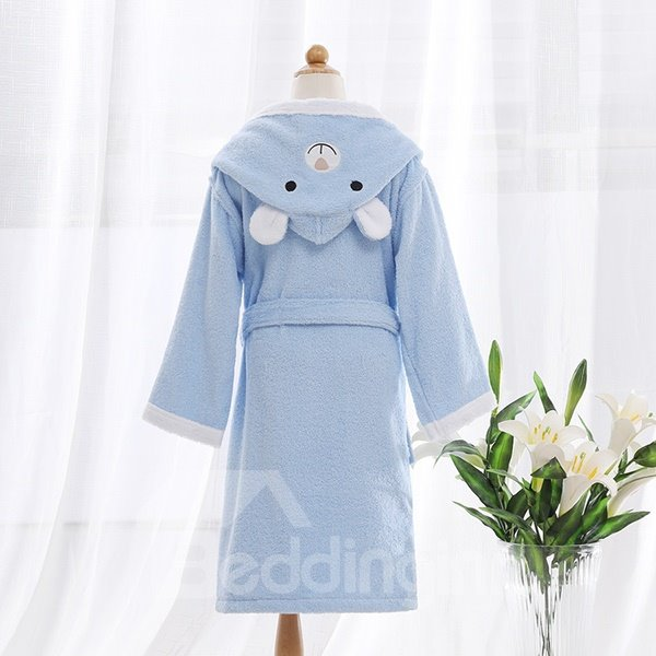 Purified Cotton Bear Hooded Kids Bath Robe