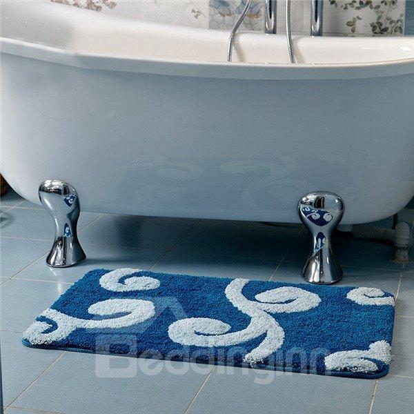 Thicken Non Slip Branch Pattern Bath Rug