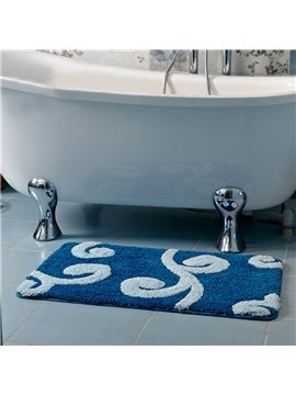 Thicken Non Slip Branch Pattern Bath Rug