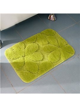 Graceful Lovely Flower Pirnt Non Slip Bath Rug