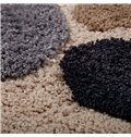 Soft Shaggy Non Slip Absorbent Stone Pattern Bath Rug