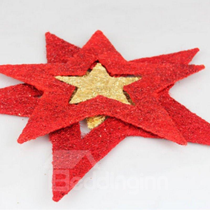 Rotatable Pentacle 60cm Christmas Pendant Decoration