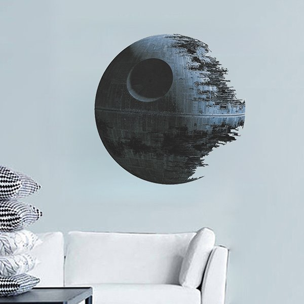 Creative Death Star in Star Wars Removable Wall Sticker