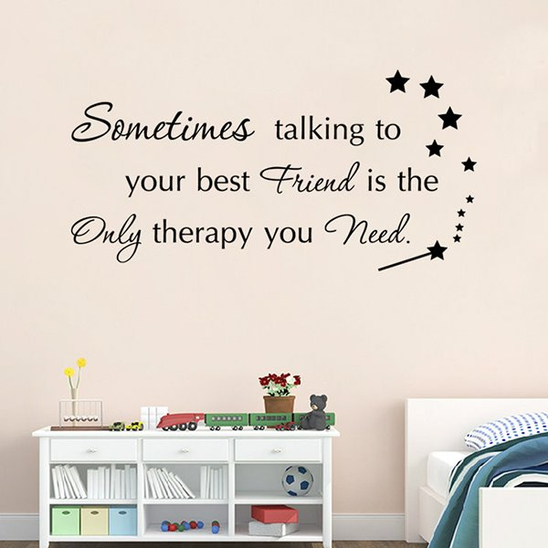Words of Wisdom on Friends Removable Wall Sticker