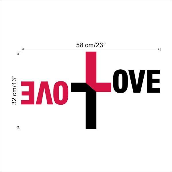 Creative Double LOVE in Cross Design Removable Wall Sticker