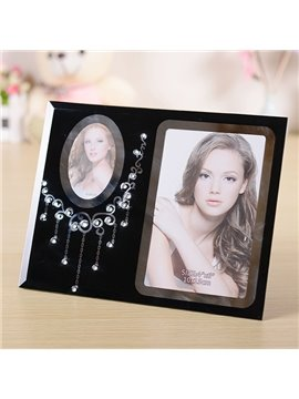 Gorgeous Neckless Glass 2-Photo Desktop Photo Frame