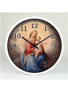 Religion Holy Mother and Jesus 12-inch Wall Clock