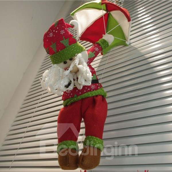 Novelty and Unique Santa Clause with Parachute Christmas Decoration