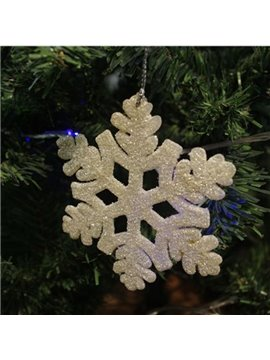 Gold 10cm Snow 3-Pieces Christmas Tree Decoration