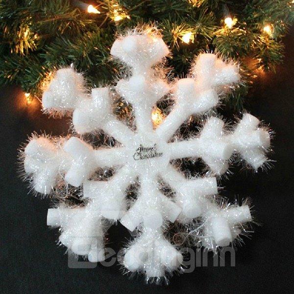 Pure White PVC Snow 20cm Christmas Decoration