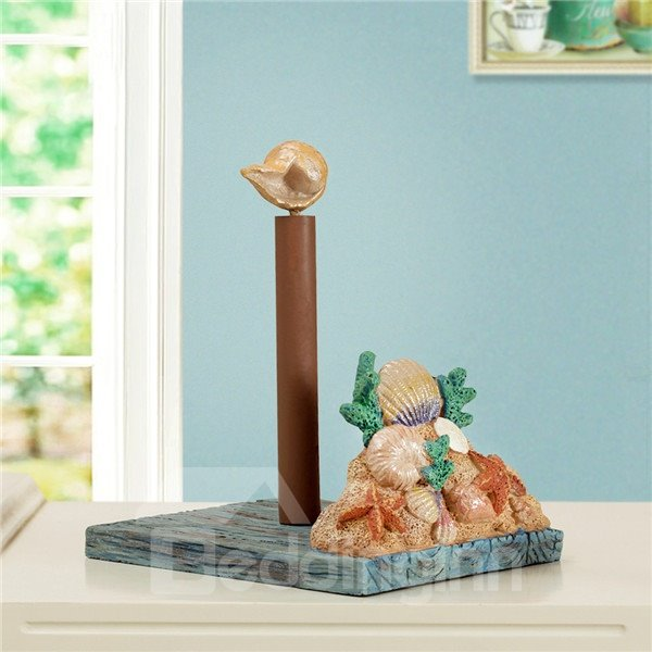 Beach style shell and starfish adjustable in height toilet paper holder - Beach toilet paper holder ...