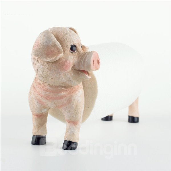 Interesting Pig Image Adjustable In Length Toilet Paper
