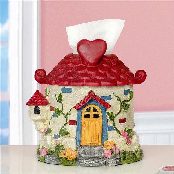 Dreamy House Pattern Resin Toilet Paper Holder