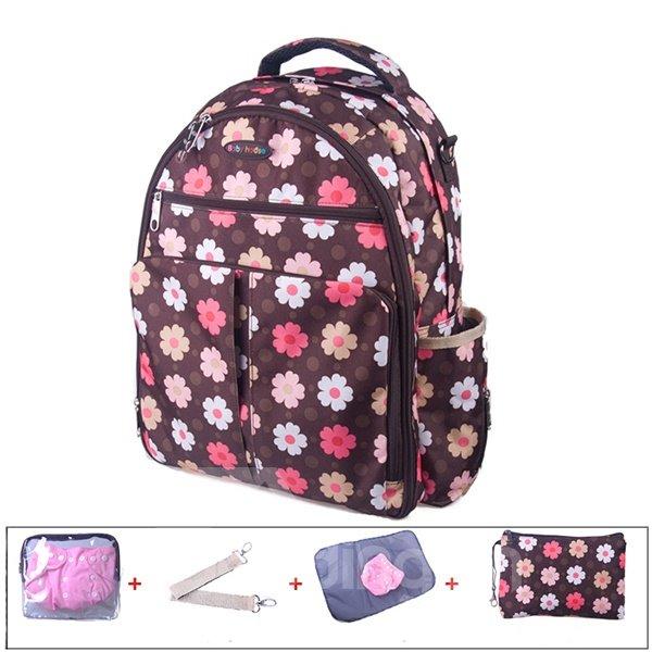 Multi Functional Cute Flower Pattern Diaper Bag