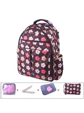 Multi Functional Cute Flower Pattern Diaper Bag