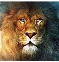 Awe-inspiring Lion Head Closeup DIY Diamond Stickers