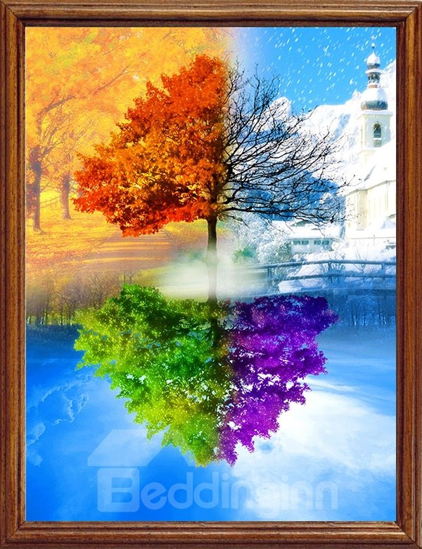 Amazing Tree in Four Color of Season DIY Diamond Stickers