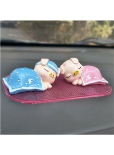 Sleeping Cute Pigs Creative Car Decor