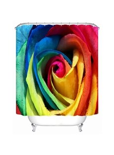 Glourious Colorful Rose Design Vivid 3D Shower Curtain