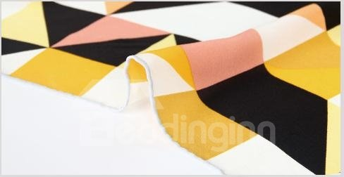 Fashion Yellow Checks Patterns Mulberry Silk Square Scarf