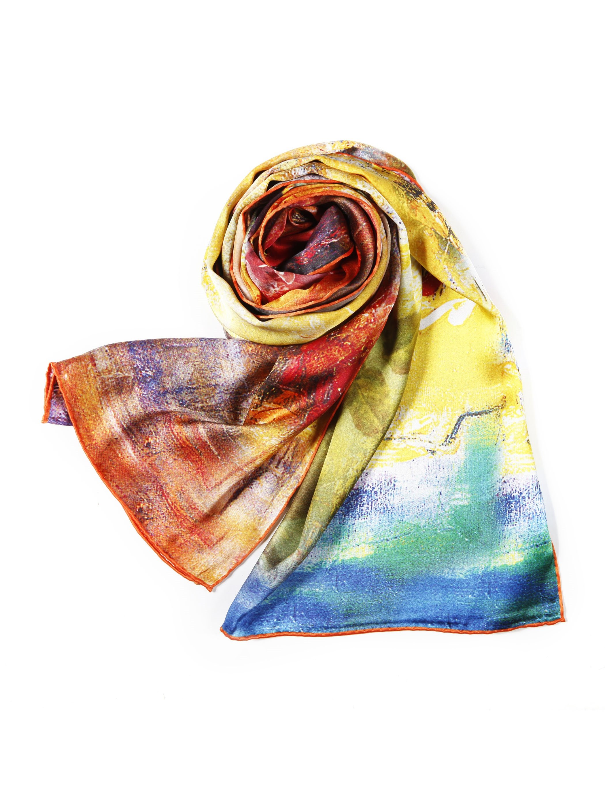 Silent Fragrance From Beautiful Roses Long Mulberry Silk Scarf