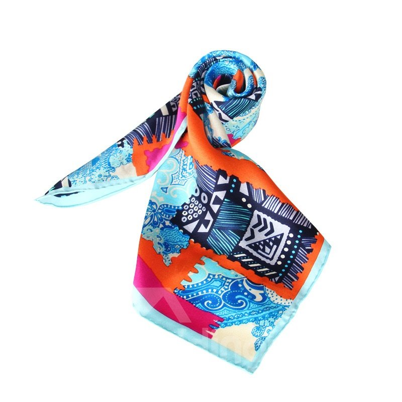 Dynamic Noisy Color Office Lady Beautiful Mulberry Silk Square Scarf