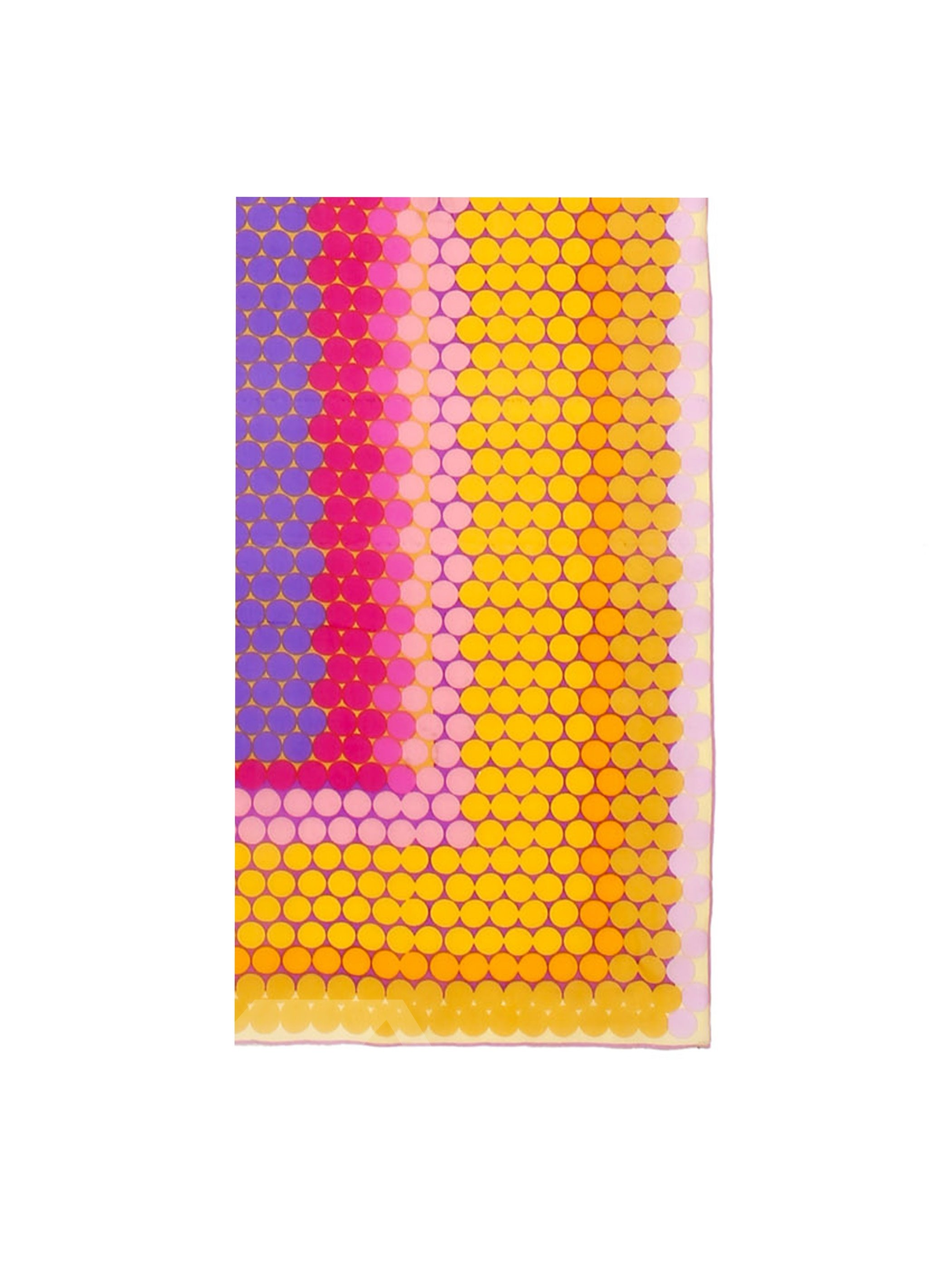 Cute Dots Scattered Long Mulberry Silk Scarf