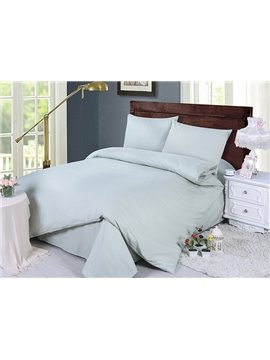 Modern Solid Color Style 4-Piece Duvet Cover Sets