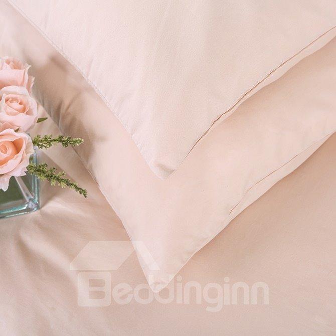 Plain Solid Color Super Smooth & Cozy 4-Piece Duvet Cover Sets