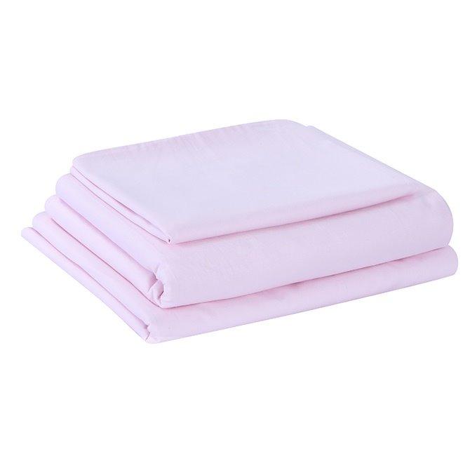 Zipper Design Sweet Pure Pink 4-Piece Duvet Cover Sets