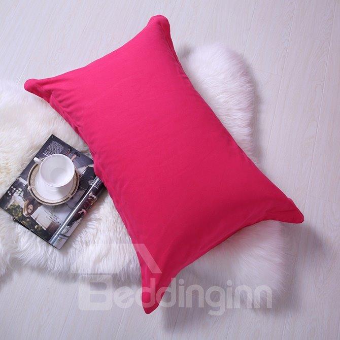 Rosy Pink Color Joint Cotton 4-Piece Duvet Cover Sets