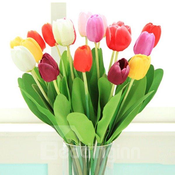 Gorgeous Decorative 5-Color Tulip 10-Piece Artificial Flowers