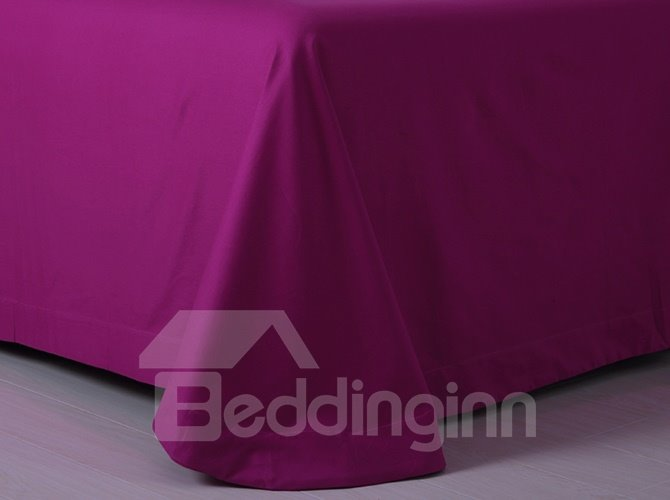 Luxury Contemporary Pure Burgundy 4-Piece Duvet Cover Sets