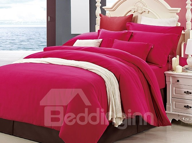 Classy Pure Rosy 4-Piece Duvet Cover Sets