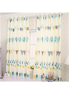 High Quality Cartoon Design Grommet Top Curtain